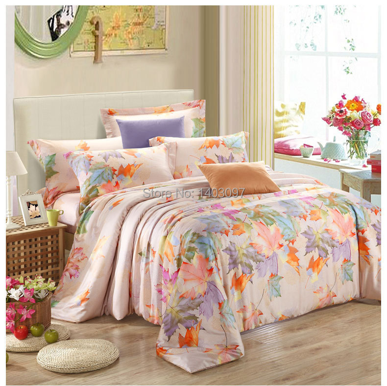 luxury bedding set 4pcs tencel bed set linen comforter bedding sets queen king size drap de lit. Black Bedroom Furniture Sets. Home Design Ideas
