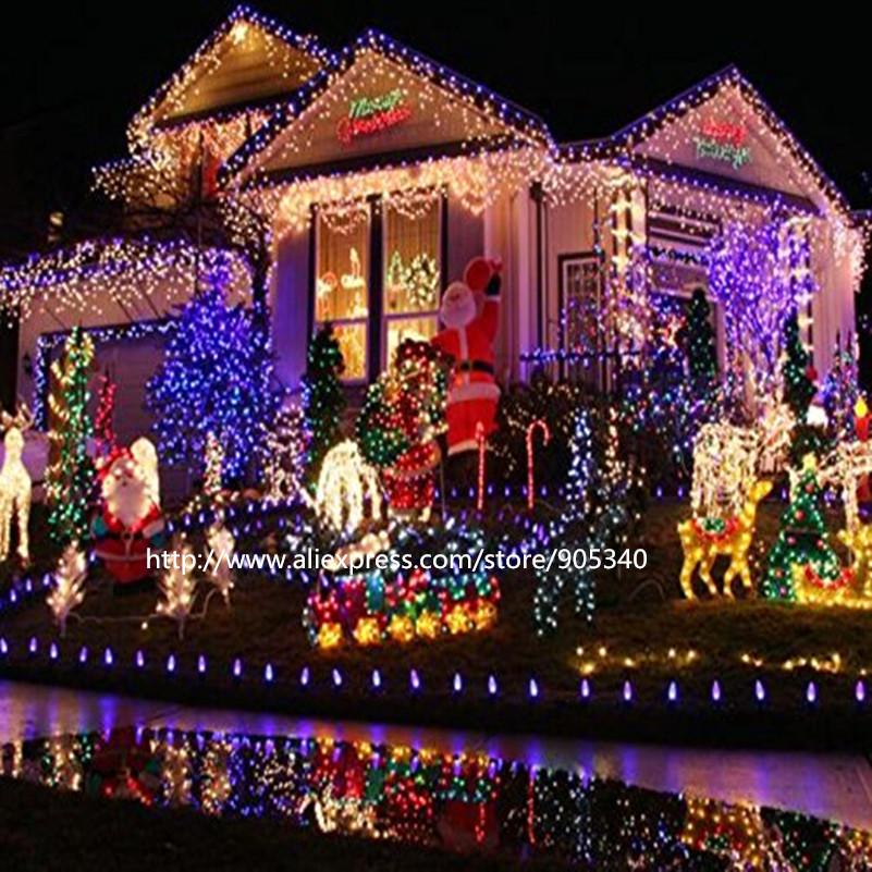 Solar Christmas LED String Lights Solar outdoor Lamps