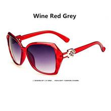 Большие солнцезащитные очки для занавес, женские плоские декоративные очки, взрывозащищенные линзы, большая оправа, женские очки(Китай)
