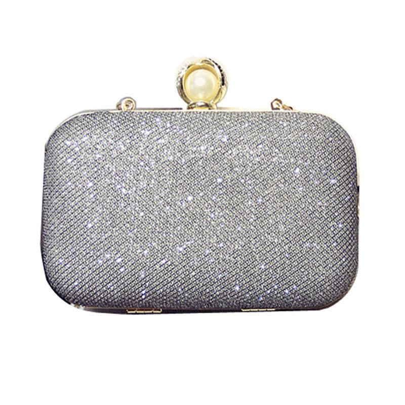 Women s Silver Pearl Clutch - free shipping worldwide 4c6208f63160