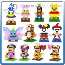 Mini Qute WTOYW LOZ kawaii Cartoon mouse bear duck dog diamond block plastic cube building blocks