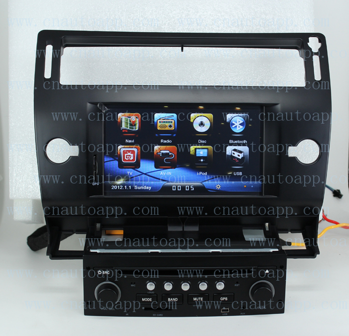 buy citroen c4 dvd gps in dash car dvd player gps radio system for citroen c4. Black Bedroom Furniture Sets. Home Design Ideas