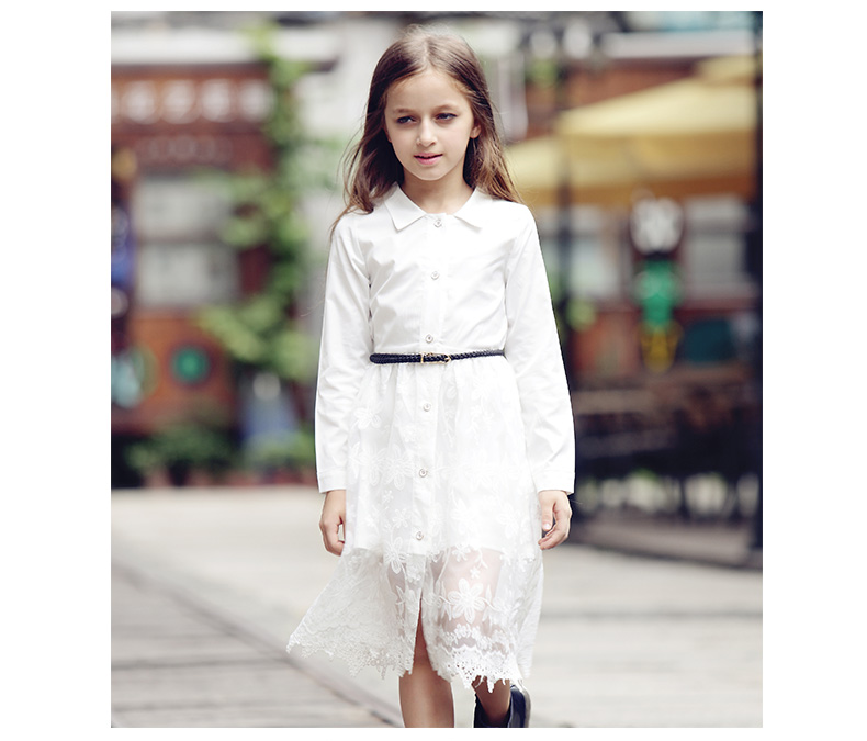 1dec4009c 2016 Special Offer Promotion Big Girl Lace Dress Clothes Solid ...
