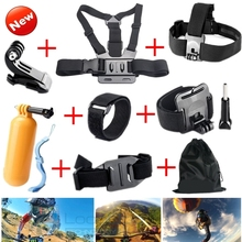 Gopro Accessories Chest Head Strap Monopod Floating Bobber Mount for Go pro Hero 4 3+2 1 xiaomi yi action cam sj4000 sj7000 GS22