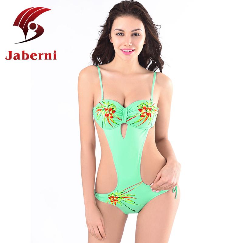 47aa36f06fa8f Green Leotard Bathing Suit Sexy Monokini Beach Cut Out Ladies Swimsuit  Strap One Piece Bodysuit Push Up Female Luxury Swimwear