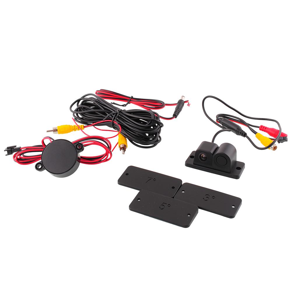 Горячая 2 в 1 автомобилей автореверса реверсивном видео радиолокационная система помощи при камеры предотвращения столкновений черный высокое качество