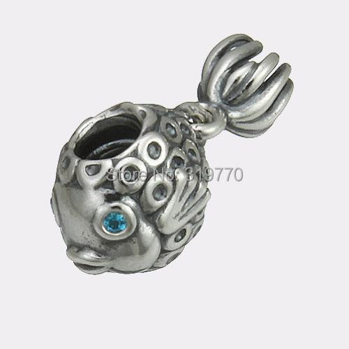 ec4ac2ff2 925 Sterling Silver Beads Authentic European Jewelry Fit Pandora Charms  Bracelets Deep Blue .