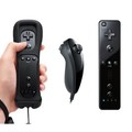 High quality Black White Built in Motion Plus Remote and Nunchuck Controller for Nintendo Wii with