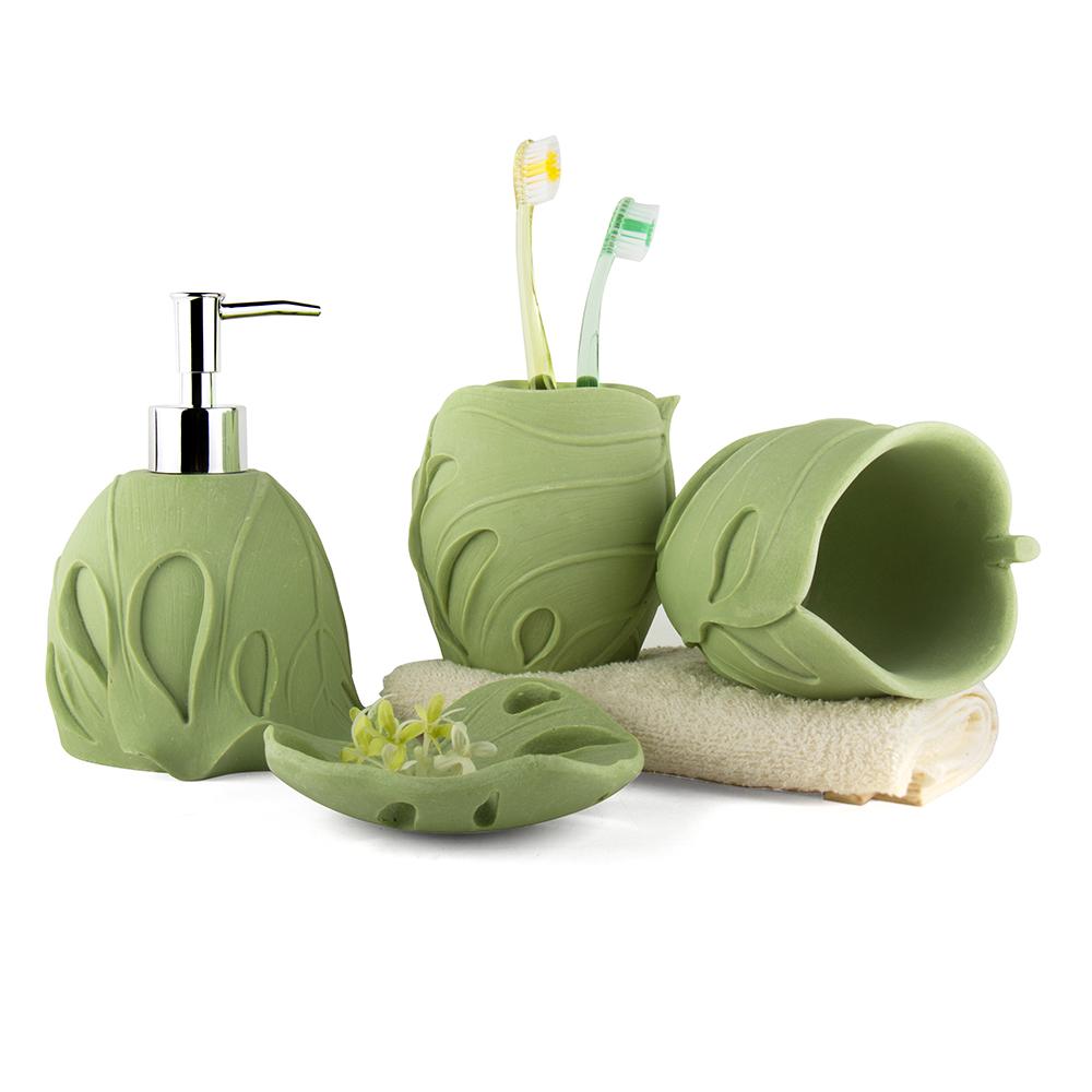 Unique Bath Accessories: Unique Sandstone Bathroom Set 4 Pieces Bath Set Wash Cup