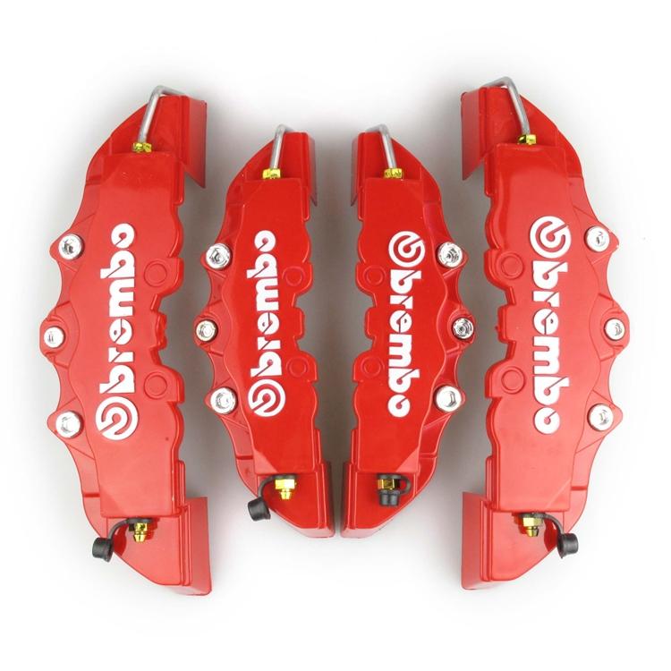 Пластик Brembo тормозной суппорт 4 шт / lot автомобиль абс перед + зад 3D диск крышка с Universal комплект ( красный )