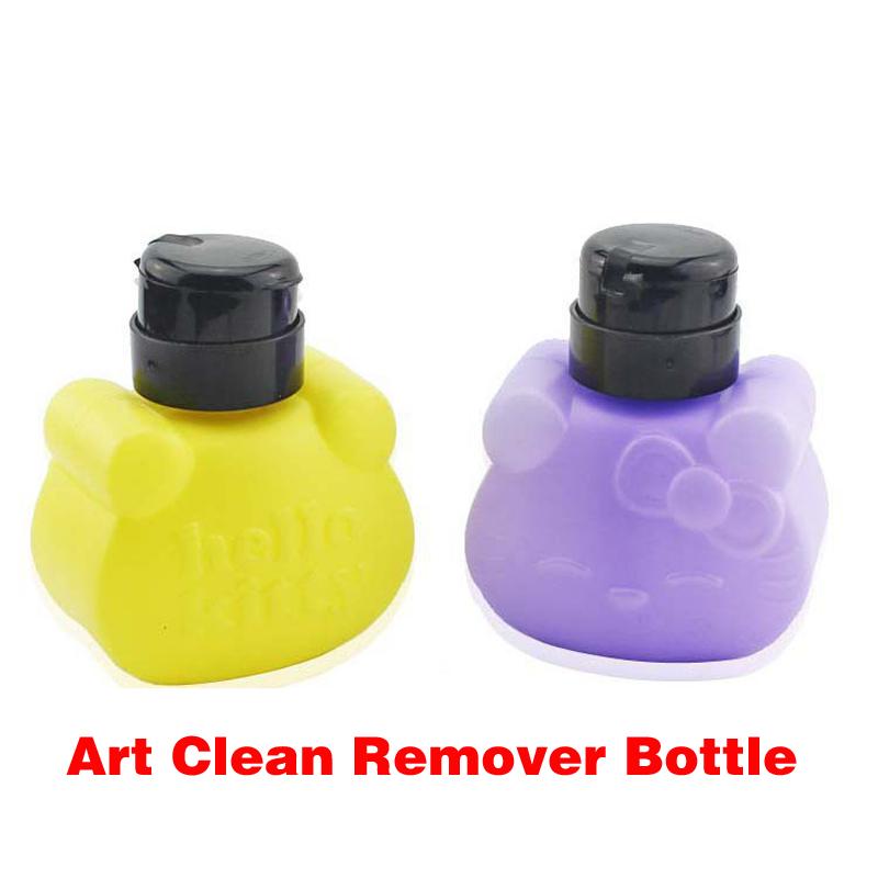 240ML Pump Nail Art Plastic Empty Bottle Polish Cleaner Nail Bottle Cleaning Dispenser Remover Portable Travel