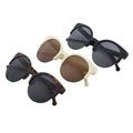 Round Circle Eye sun glasses glasses Eye Sunglasses Women Eyewear sunglasses Semi Rimless brand designer Super