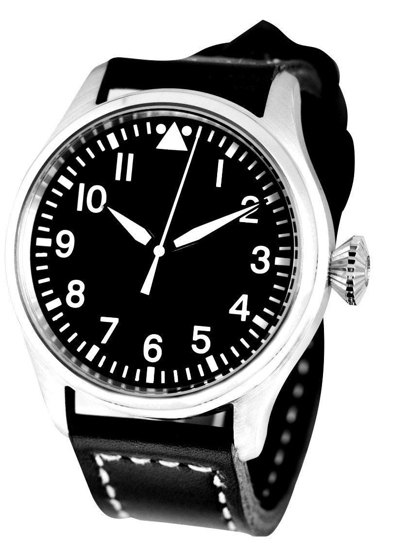 men 39 s fleiger b uhr pilot watch with sterile dial 47 mm. Black Bedroom Furniture Sets. Home Design Ideas