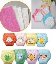 8pcs/lot Waterproof potty training pants for baby briefs cotton panties infant diaper pant XLK003 free shipping