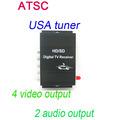 Car ATSC USA Digital TV receiver 4 Video Output 2 Audio Output Fit All Car DVD
