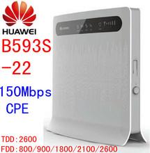 Unlocked Huawei b593 B593s 22 150Mbps 4G lte 3g CPE font b wifi b font Wireless