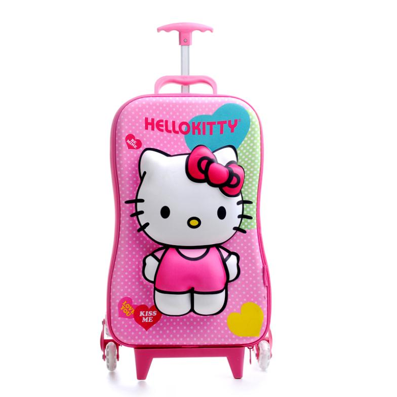 4a1e32d04 Lovely Hello Kitty Girls Trolley School BAGs Rolling Backpack ...