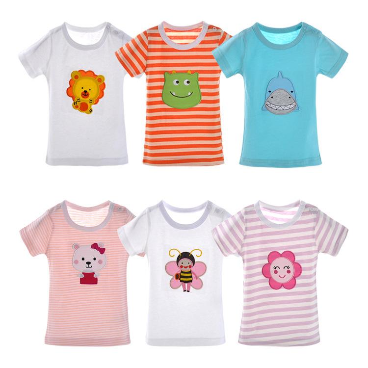 100% хлопок мальчики майка топы дети тис девочка мальчик с коротким рукавом футболки мультфильм милый блузка Roupas menino menina