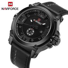 NAVIFORCE мужские часы, лучший бренд, роскошные спортивные кварцевые часы с кожаным ремешком, мужские водонепроницаемые наручные часы, relogio ...(Китай)