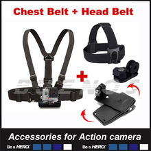 Chest Belt Head Belt 360 Clamp mount For Gopro Hero Action font b Camera b font