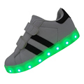 2016 NEW White Color Children Sneakers USB Charging Kids LED Luminous Shoes Boys Girls Of Colorful