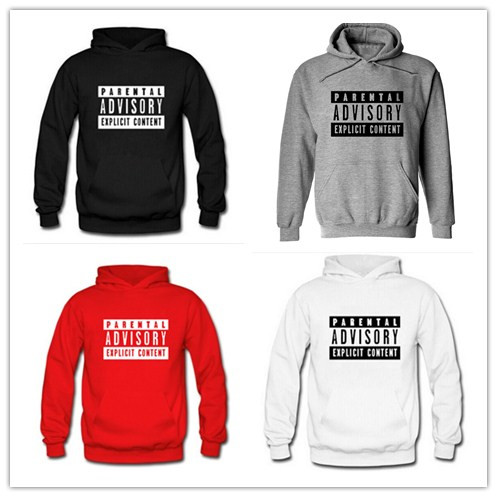 Men/women Parental Advisory Explicit Content hoodies ...