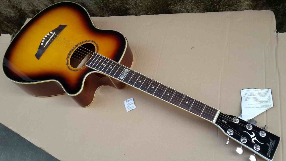 buy sunburst tagim electric acoustic guitar with tuner from reliable acoustic. Black Bedroom Furniture Sets. Home Design Ideas