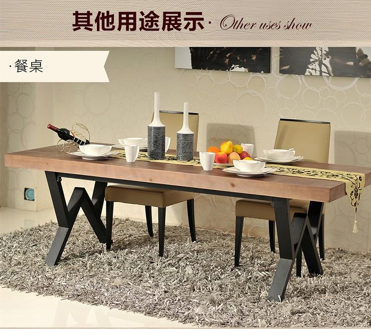 simple moderne en fer forg bois table de conf rence bureau bureau d 39 ordinateur bureau bureau. Black Bedroom Furniture Sets. Home Design Ideas