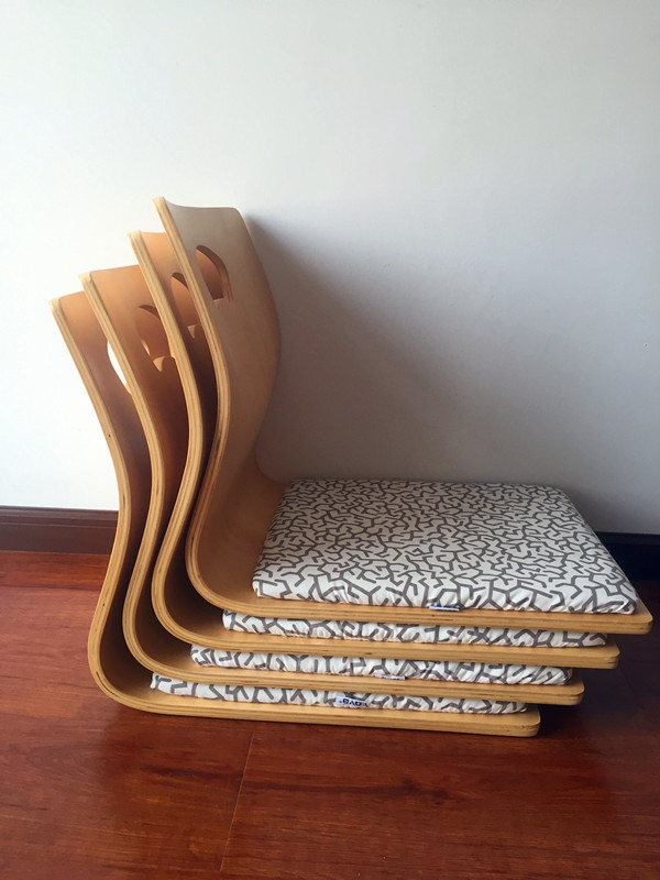 Aliexpress Com Buy 4pcs Lot Japanese Tatami Zaisu Chair