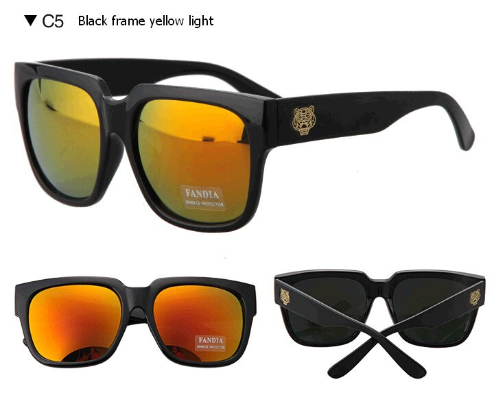 272758ec575 New 2015 Brand Personality Big Frame Sunglasses Men Outdoor Tiger ...
