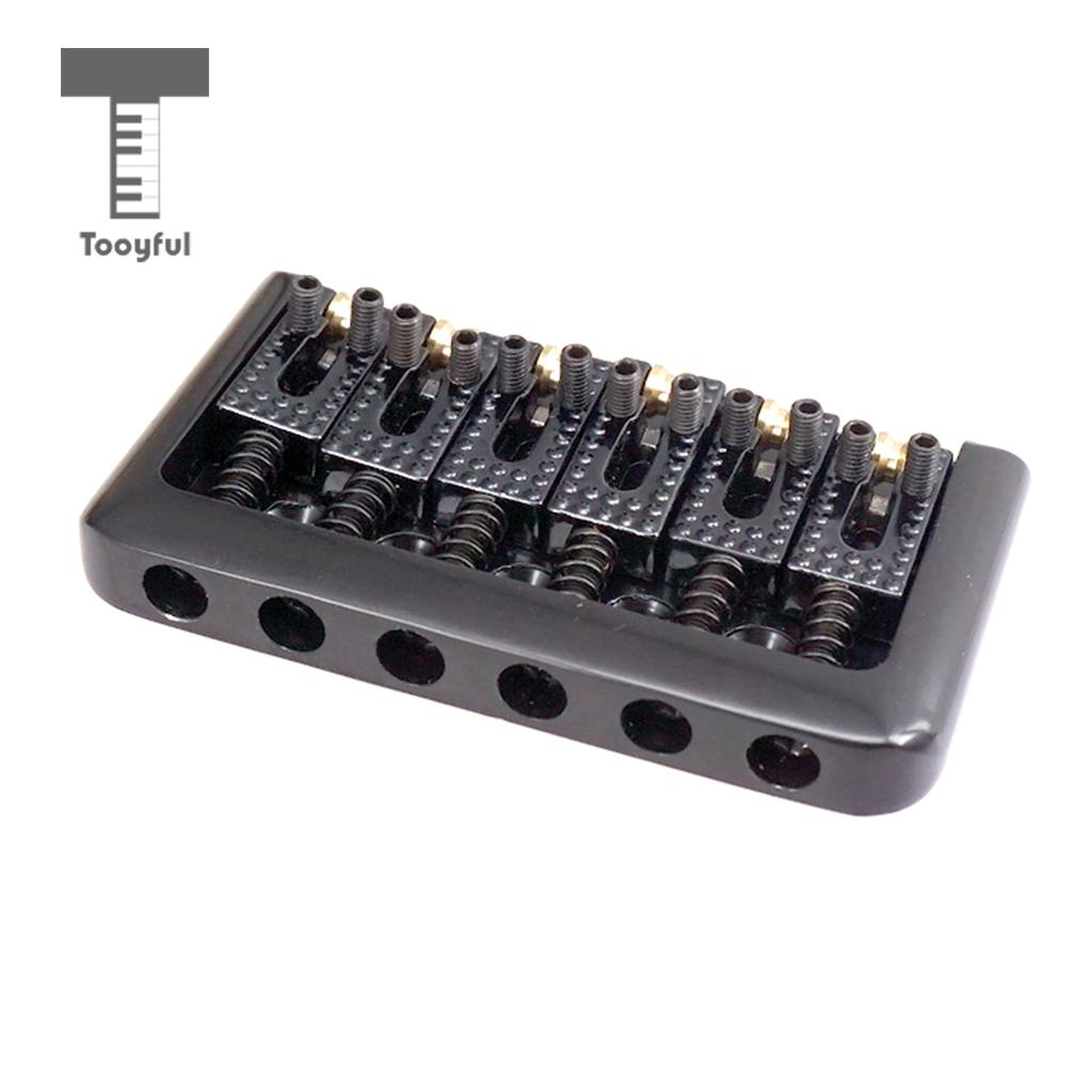 76mm 6 String Electric Guitar Fixed Hardtail Bridge Tailpiece Top Load for  Strat Tele