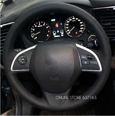 Для mitsubish Outlander мираж ASX руль крышка автомобиль особое вручную доставка-прошитой кожа колесо крышки