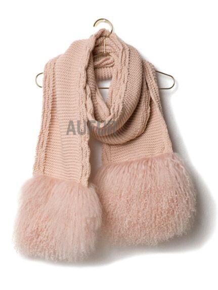 Compra bufanda de piel de oveja online al por mayor de