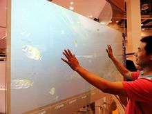 27 inch Interactive Dual touch foil Film through glass for LCD/LED monitor and window shop glass, Fast Shipping