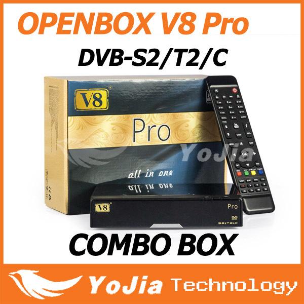 1pc Openbox V8 Pro Combo Receiver DVB-S2&T2&C V8 Pro satellite