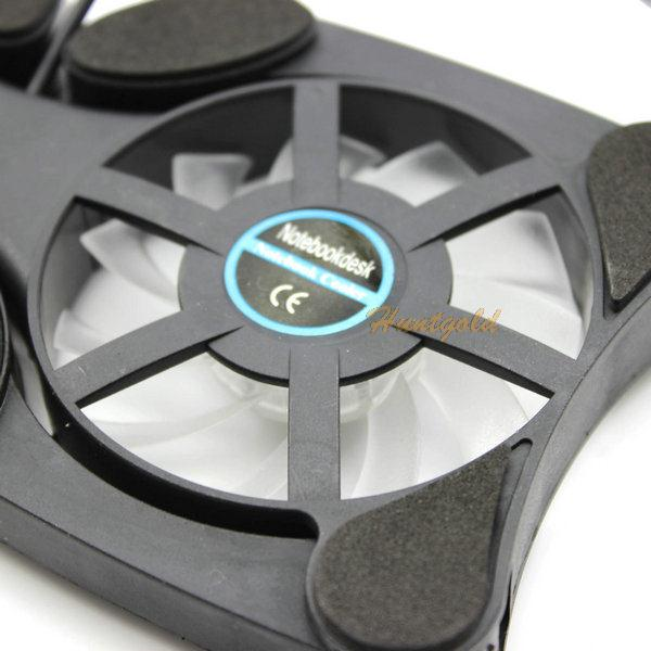 Складной USB портативных пк кулер для ноутбука настольная подставка радиатор радиатор двух вентиляторов