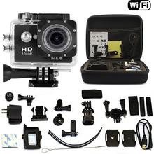 Shockproof Bag Case + Black SJ6000-W9 2.0″ WIFI 1080P HD Sports Action DVR Video Waterproof Camera AS GOPRO SJCAM SJ4000 SJ5000