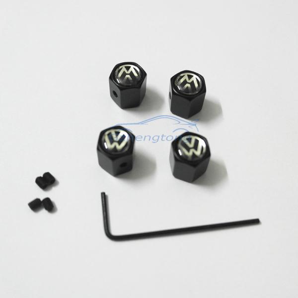 Металлическую противоугонную колеса автомобиля клапана шапки воздуха заглушки , пригодный для Volkswagen 4 шт./компл.