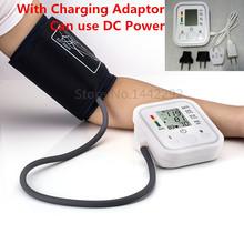 2015 Cuidados de Saúde 1 pcs Digital Lcd Arm Blood Pressure Monitor Cardíaco Bata Medidor Máquina Superior Tonômetro para Medição Automática
