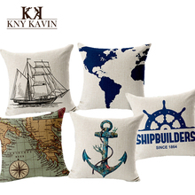 European Navigation Maps Cushion Home Car Throw Pillows New Arrivel Brand Cushions Funda Cojines Decorative Throw Pillow HH503