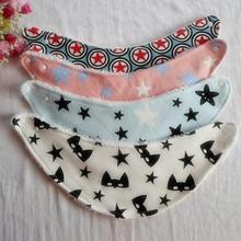 Baby Girl Boy Towel Saliva Waterproof Newborn Cartoon Pattern Toddler Lunch Bibs Burp Cloths