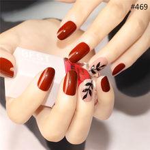 Новый дизайн, прозрачные накладные ногти, пресс на полное покрытие ногтей, 3D блеск, искусственные ногти, украшения, мраморный дизайн ногтей(Китай)