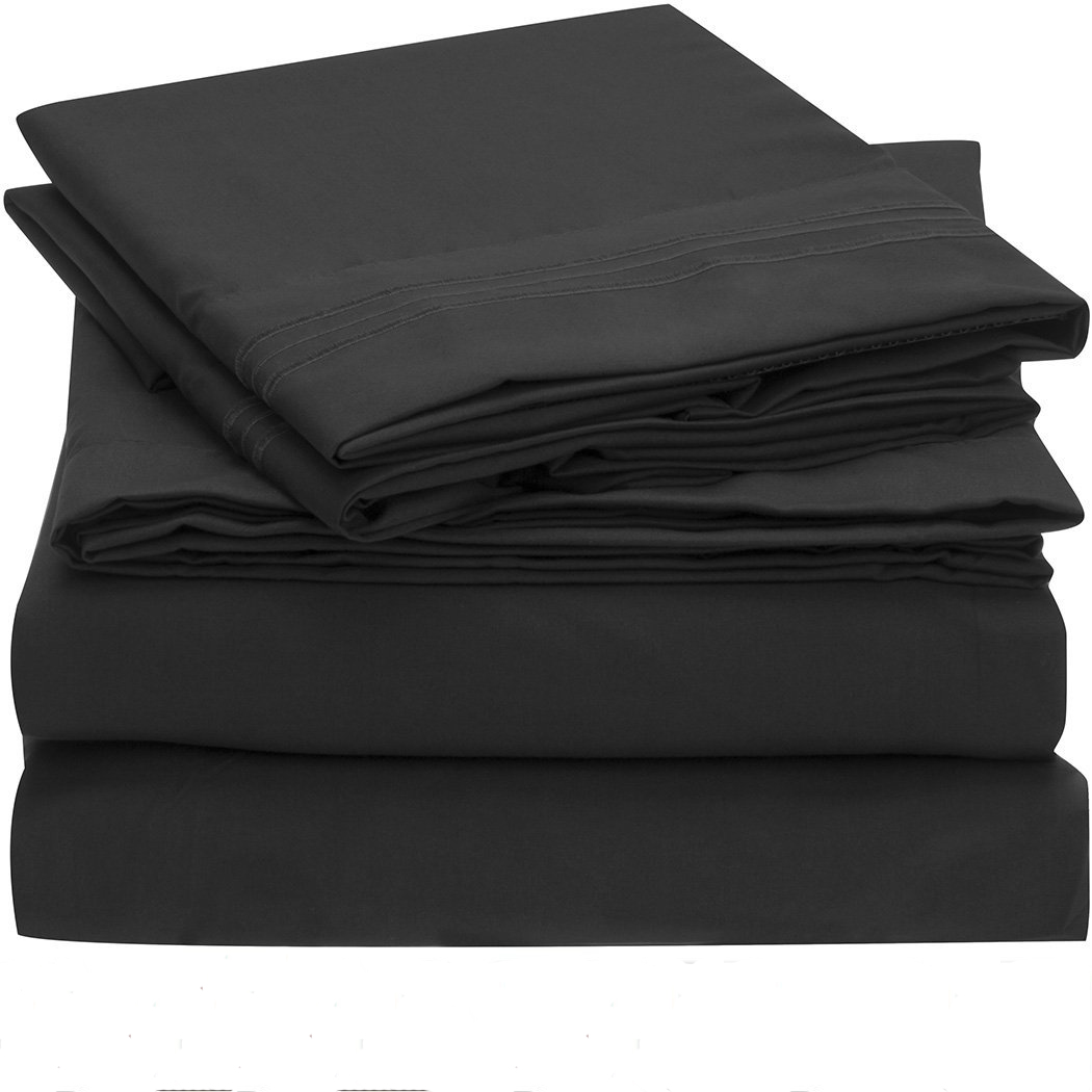 bedding set fitted sheet flat sheet pillowcase 3 4pcs us size solid twin full queen king. Black Bedroom Furniture Sets. Home Design Ideas