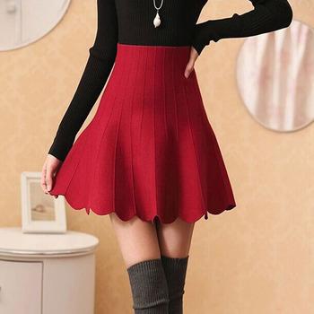 bea449edbf New 2015 Autumn Winter Short Skirts Temperament style Women's Pleated  feminina plus size High Waist Short Frill Women Skirts