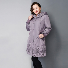 Astrid 2014 Women's coat high quality spring winter autumn trench slim Hooded fleece flowers fashion big size