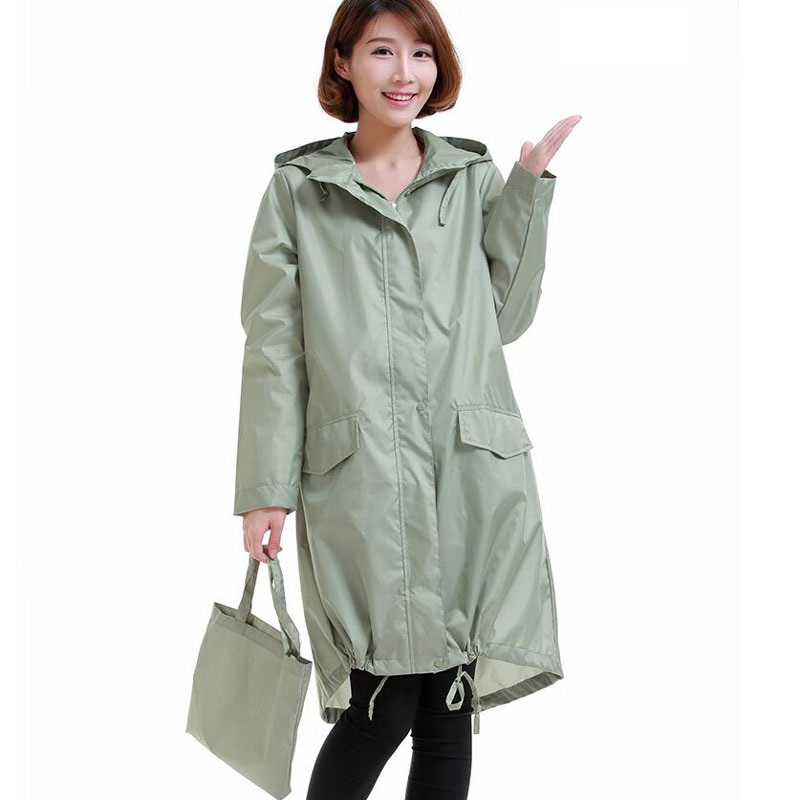 Womens rain coat long