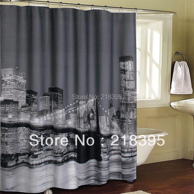 rideau de douche imperm able l 39 eau de bain rideau new york city pont de brooklyn manhattan. Black Bedroom Furniture Sets. Home Design Ideas