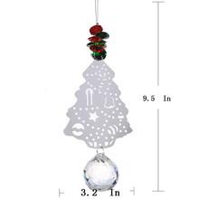 5PCS 40mm Glass Crystal font b Ball b font Metal font b Christmas b font Tree