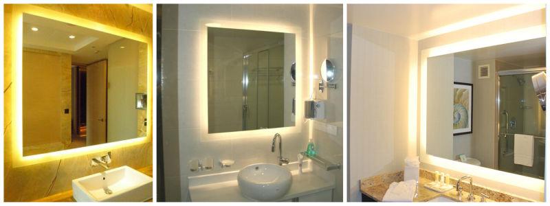 Cuarto de baño moderno de pared espejos decoración, 16 ...