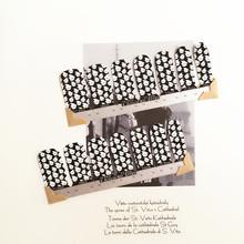 White Black Cute devil Nail Arts Nail Sticker Waterproof Nail Decal Sticker Gel Polish French Manicure